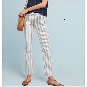 NWT Anthro Pilcro Striped High Rise Jeans Size 30